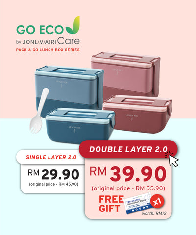 Jonlivia ® Care GO Eco Pack & Go Bento Lunch Box 2.0