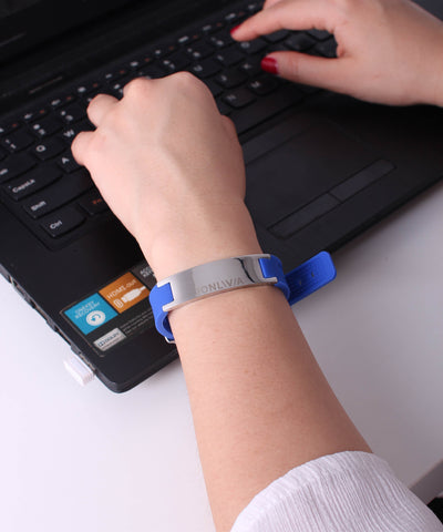 iYON Anti-Radiation Anti-Static E-Bracelet (Blue Edition)
