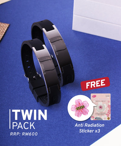 Twin Pack iYON E-Bracelet (NEW Energy Upgrade) - Black + Black