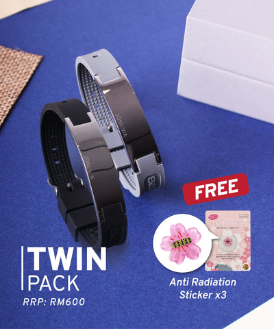 Twin Pack iYON E-Bracelet (NEW Energy Upgrade) - Black + Grey