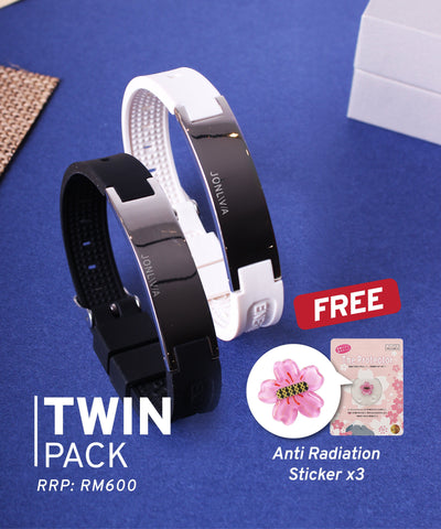 Twin Pack iYON E-Bracelet (NEW Energy Upgrade) - White + Black