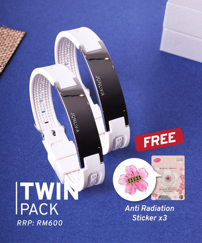 Twin Pack iYON E-Bracelet (NEW Energy Upgrade) - White + White