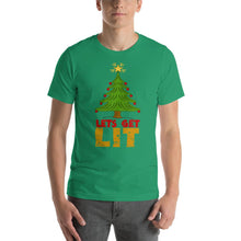 Load image into Gallery viewer, Lets Get Lit Christmas Tree T-Shirt
