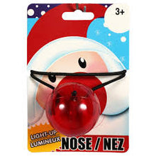 Load image into Gallery viewer, Red Light Up Rudolph/Santa Nose