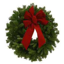 Load image into Gallery viewer, 3 Pack of Balsam Fir Wreaths With Bow