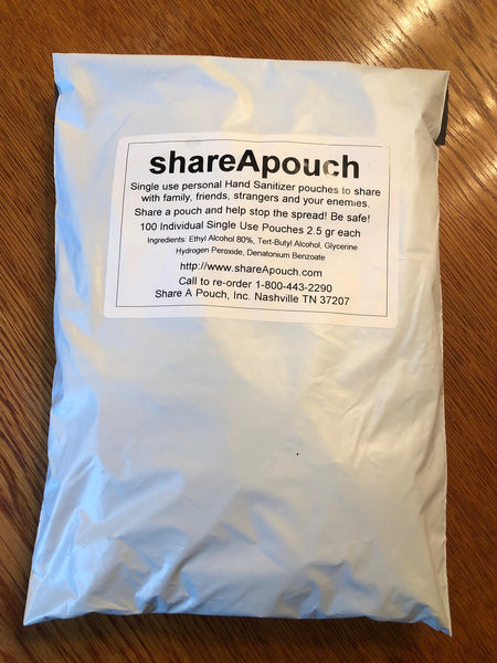 .ShareApouch Hand Sanitizer (100 Pouches)