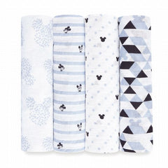 aden disney mickey 4pack muslin swaddles