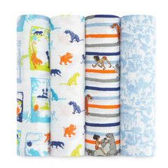 aden + anais disney baby classic swaddles jungle book 4-pack