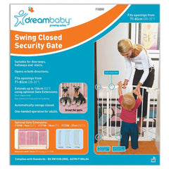 Dreambaby Swing Safety Gate Barrier Baby Pet Child White or Black