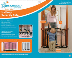 Dreambaby Hallway Safety Gate Barrier Baby Pet Child White or Black