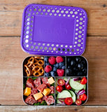 LunchBots Bento Cinco Purple Dots
