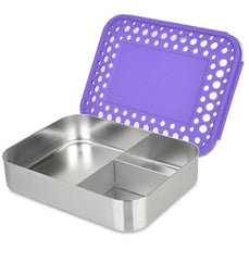 LunchBots Bento Trio Purple Dot