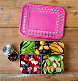 LunchBots Bento Cinco Pink Dots