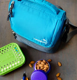 LunchBots Duplex Lunch Bag Aqua