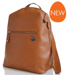 PacaPod Hartland Leather Nappy Changing Bag - Tan