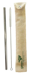 Green Essentials - Stainless Steel Straw & Brush in POUCH