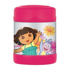 Thermos - 290ml - Insulated Stainless Steel Food Jar - Funtainer, Pink Dora the Explorer
