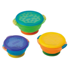 Munchkin Three Stay Put 3-Pack Suction Bowl