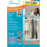 Dreambaby Swing Safety Gate Barrier Baby Pet Child White or Black EXTRA TALL 1M
