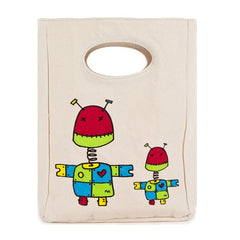 Fluf Certified Organic Cotton Lunch Bag - Robot