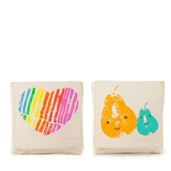 Fluf Certified Organic Cotton Snack Bag 2 Pack - Mama Love