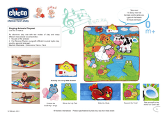 Singing animal playmat 0m+