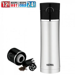 Thermos Vacuum Insulated Drink Bottle with Tea Infuser 470ml