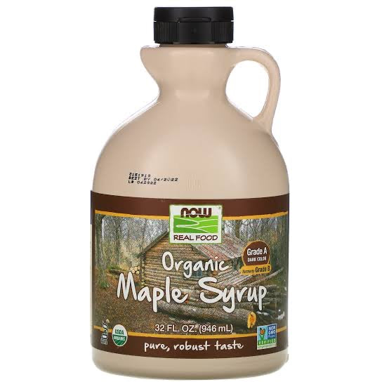 NOW Foods Organic Maple Syrup Grade B 32 oz.