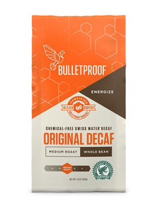 Bulletproof Coffee Original Medium Roast Whole Bean Decaf - 12 oz.