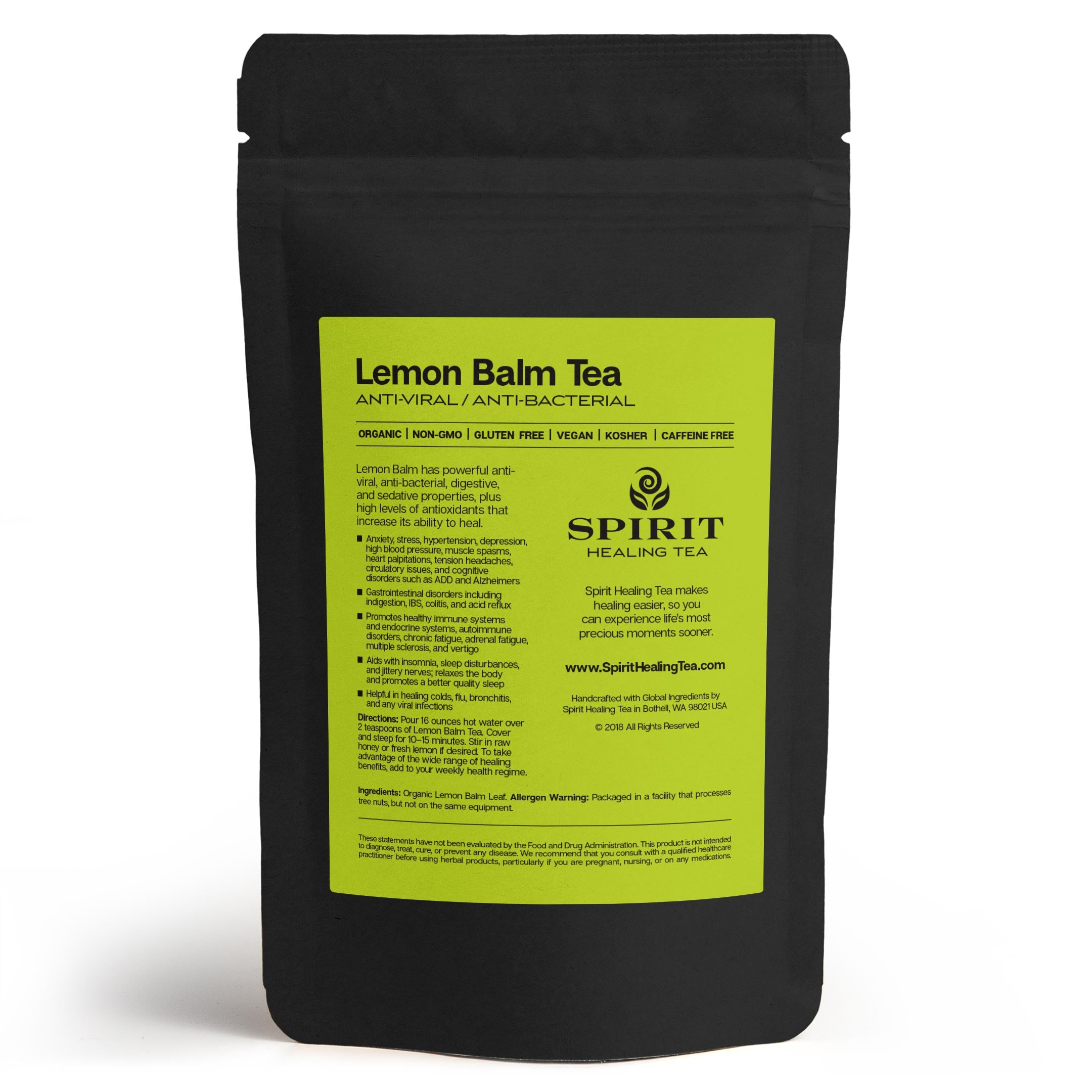 Spirit Healing Lemon Balm Tea