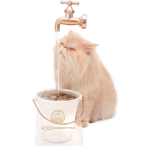 Bebedouro MagiCat  Gold com suporte 220 V - Cat My Pet