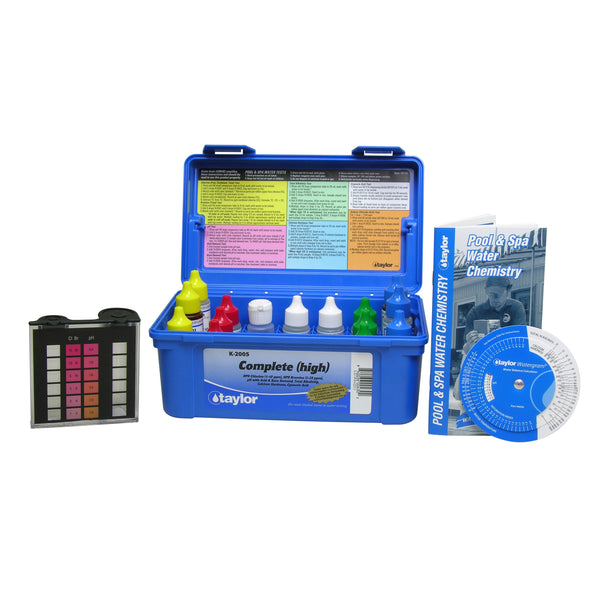 pool water test kit for chlorine and ph levels