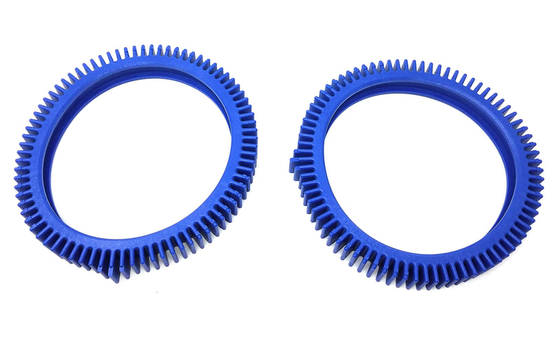 Hayward AquaNaut 200 400 & 450 Wheel Tread - Finger Hump - Blue Met (2 Pack)