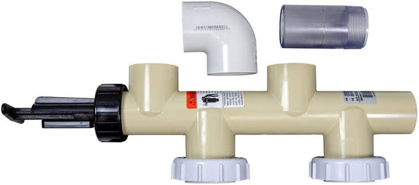 Pentair 263064 PVC Push Pull Slide Valve, 7 1/2 Inch Centerline, Almond, For D.E. and Sand Filters - ePoolSupply