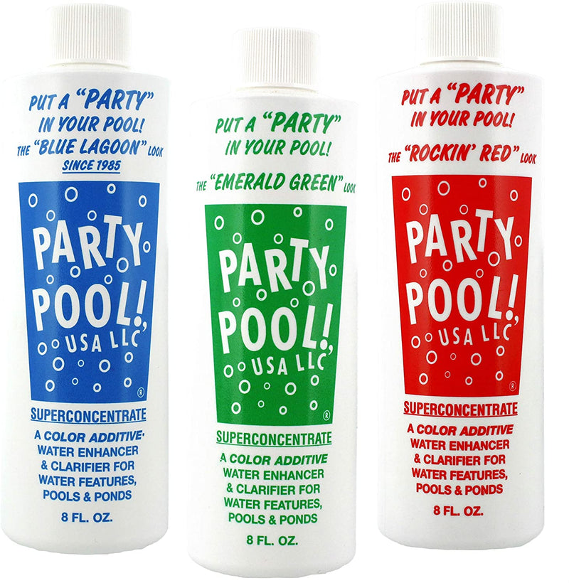 Party Pool Color Additive Variety Pack- 3 Pack - Red/Green/Blue