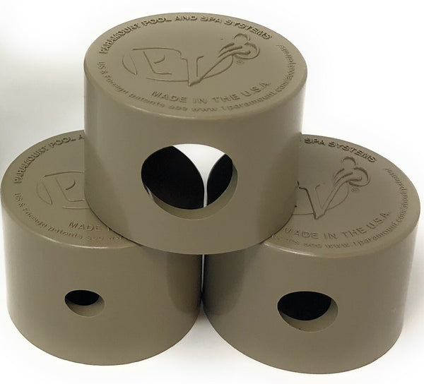 Paramount PV3 Twist Lock Step Nozzle Caps 3 Piece (Beige) - ePoolSupply