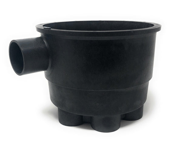 "A&A Low Profile 6 Port 1.5"" T-Valve Housing (FLAPS NOT INCLUDED)(Black) - ePoolSupply"