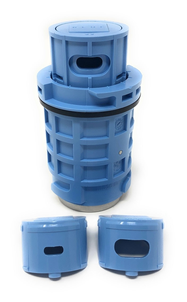 Blue Square Q360 Pop Up Head with Nozzles (Blue) - ePoolSupply