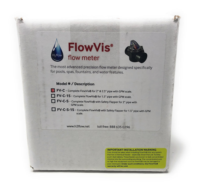 "FlowVis GPM Flow Meter Valve for 2"" & 2.5"" Pipes - ePoolSupply"