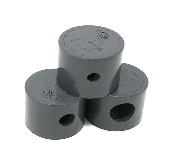 Paramount PV3 Twist Lock Step Nozzle Caps 3 Piece (Gray) - ePoolSupply