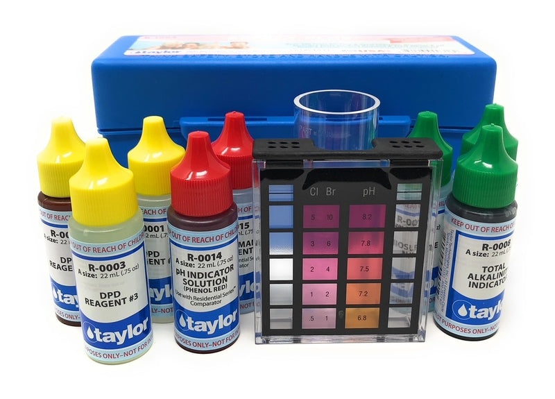 Taylor Technologies Safety Plus Test Kit for Chlorine/Bromine, pH, Alkalinity (DPD) - ePoolSupply