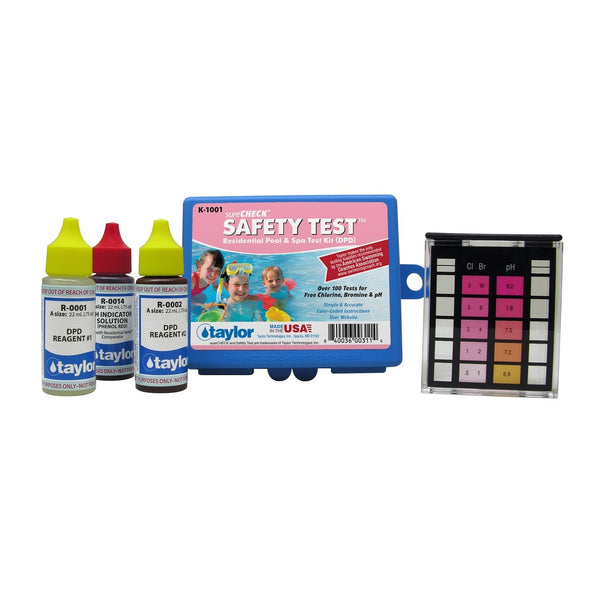 Taylor Technologies Safety Test Kit for Chlorine/Bromine, pH (DPD) - ePoolSupply