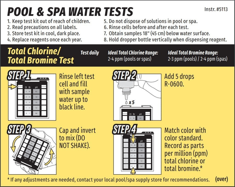 Taylor Technologies Safety Test Kit for Chlorine/Bromine, pH (OT) - ePoolSupply