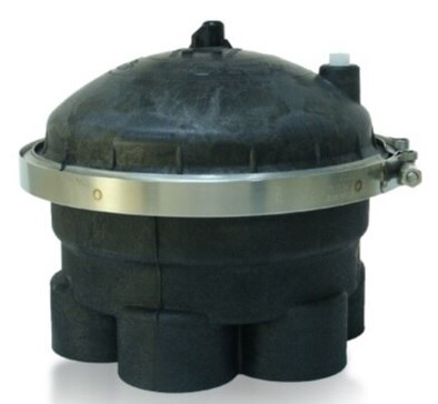 "Paramount Complete 2-Port 5-Gear 2"" Water Valve (Black) - ePoolSupply"