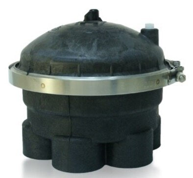 "Paramount Complete 2-Port 4-Gear 2"" Water Valve (Black) - ePoolSupply"