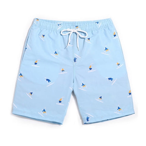 Shorts Surf  Azul Estampada