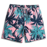 Shorts com Estampa Tropical Rosa