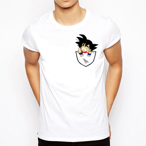 Camiseta Branca com Estampa Dragon Ball