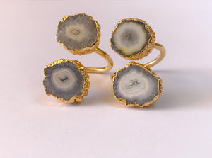 Double Quartz Ring