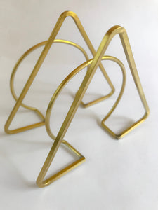 Brass Triangle Cuff
